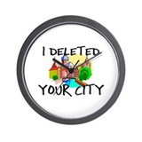 Deleted City Wall Clock