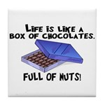 Full Of Nuts Tile Coaster