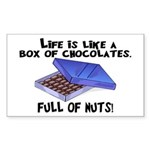 Full Of Nuts Sticker (Rectangle 50 pk)