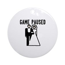 Game Paused Ornament (Round)