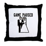 Game Paused Throw Pillow
