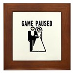 Game Paused Framed Tile