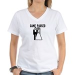 Game Paused Women's V-Neck T-Shirt