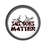 Sais Does Matter Wall Clock