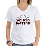 Sais Does Matter Women's V-Neck T-Shirt