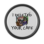 Deleted Cafe Large Wall Clock