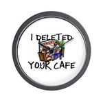 Deleted Cafe Wall Clock