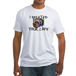 Deleted Cafe Fitted T-Shirt