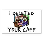 Deleted Cafe Sticker (Rectangle 50 pk)
