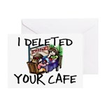 Deleted Cafe Greeting Card