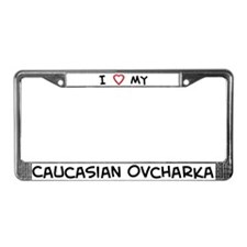 I Love Caucasian Ovcharka License Plate Frame
