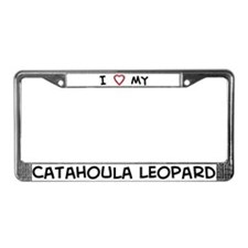 I Love Catahoula Leopard License Plate Frame