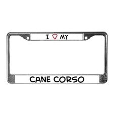 I Love Cane Corso License Plate Frame