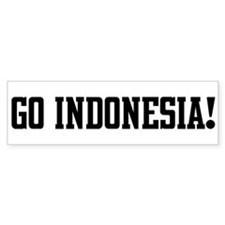 Go Indonesia! Bumper Bumper Sticker