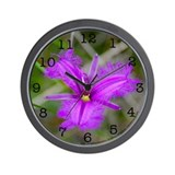 Fringe Lily Wall Clock