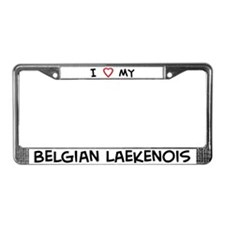 I Love Belgian Laekenois License Plate Frame