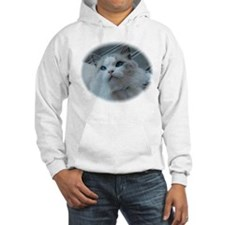 Cute Blue eyed cat Hoodie