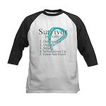 Survivor Ovarian Cancer Kids Baseball Jersey