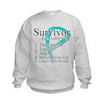 Survivor Ovarian Cancer Kids Sweatshirt