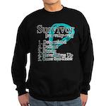 Survivor Ovarian Cancer Sweatshirt (dark)