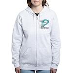 Survivor Ovarian Cancer Women's Zip Hoodie