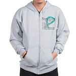 Survivor Ovarian Cancer Zip Hoodie