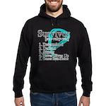 Survivor Ovarian Cancer Hoodie (dark)