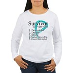 Survivor Ovarian Cancer Women's Long Sleeve T-Shir
