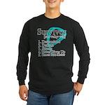 Survivor Ovarian Cancer Long Sleeve Dark T-Shirt