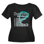 Survivor Ovarian Cancer Women's Plus Size Scoop Ne