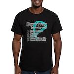 Survivor Ovarian Cancer Men's Fitted T-Shirt (dark