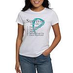 Survivor Ovarian Cancer Women's T-Shirt