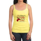 Throat Cancer I Wear Ribbon Ladies Top
