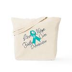 Love Hope Ovarian Cancer Tote Bag