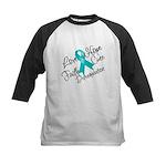 Love Hope Ovarian Cancer Kids Baseball Jersey