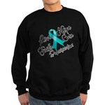 Love Hope Ovarian Cancer Sweatshirt (dark)