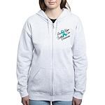Love Hope Ovarian Cancer Women's Zip Hoodie
