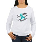 Love Hope Ovarian Cancer Women's Long Sleeve T-Shi