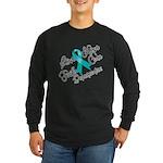 Love Hope Ovarian Cancer Long Sleeve Dark T-Shirt