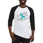 Love Hope Ovarian Cancer Baseball Jersey