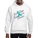 Love Hope Ovarian Cancer Hooded Sweatshirt