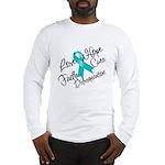 Love Hope Ovarian Cancer Long Sleeve T-Shirt