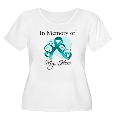 In Memory Hero Ovarian Cancer Women's Plus Size Sc