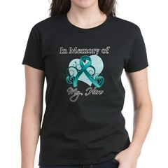 In Memory Hero Ovarian Cancer Women's Dark T-Shirt
