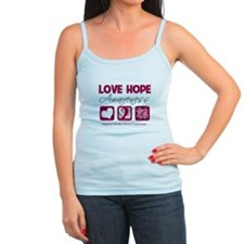 Throat Cancer Love Hope Jr.Spaghetti Strap