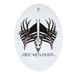 Free men hunt Ornament (Oval)