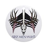 Free men hunt Ornament (Round)