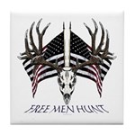 Free men hunt Tile Coaster