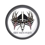 Free men hunt Wall Clock