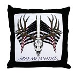 Free men hunt Throw Pillow